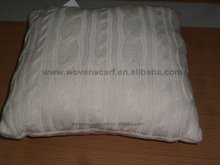 Knitted cushion cover in acrylic