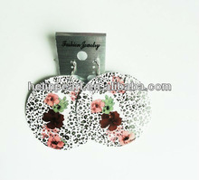 latest fashion printing handcrafted flat shell earrings 2014 new designed