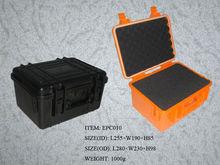 Hard ABS plastic waterproof tool case with die-cut foam