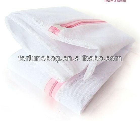 Nylon laundry bag with zipper