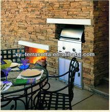 Foshan artificial cultured stone fence,antique flavor stone