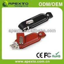 top grade leather 8gb usb flash memory