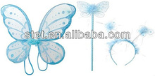 Silk butterfly wings set for party decoration