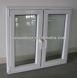 pvccasement window/ window design with louver inside