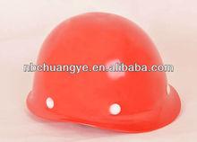 Industrial safety work helmet with chin strap