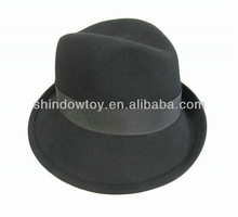 Fashion black wool felt fedora hat, Wool felt hat, Wool hat for elegant ladies