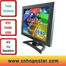 model 1501 vga hdmi tv av dvi input cheap lcd display 15 inch