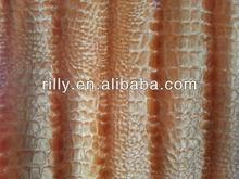 100% polyester pv plush bright crocodile pattern/ brush stripe