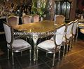 1+8 clásica de madera maciza mesa de comedor y sillas d1057
