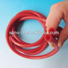 personalizado flexible de color marrón de la fda medica o común de caucho de silicona tubo