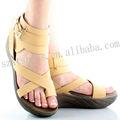 confortável senhora sandália de dedo aberto marca sapato sapatos de sola grossa para as mulheres