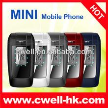 New design RR M9 Dual SIM Flip Mini Mobile Phone