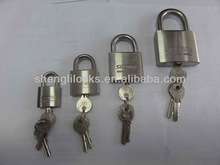 stainless steel padlock with normal keys