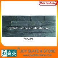 Black quartz landscaping rocks for wall cladding