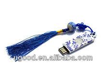 Bulk cheap Blue and white porcelain USB flash drive Gifts,usb drive for porcelain promotion
