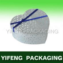 2013 new design heart shape shining gift box wirt silk