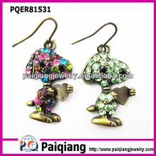 Fashion Snoopy earring , cartoon earring , snoopy earring