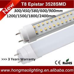 led tube light UL 60cm 12w,offer CE ROHS FCC 2ft t8 led tube ztl,4years warranty