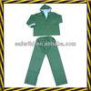 Green PVC rain suit/rain coat