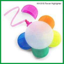 Non Toxic Multi-color Promotional Flower shape Highlighter Pen KH1816