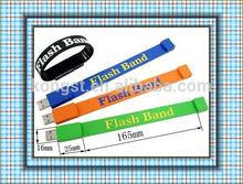 Wholesale 4GB-16GB wristband watch bracelet usb / wristband usb with OEM logo