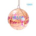pintado a mano de cristal transparente bola de navidad