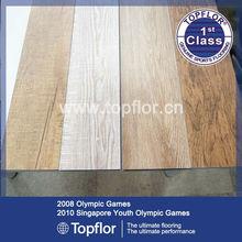 pvc wooden floor tile with fiber glass