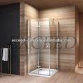 portas de vidro dobráveis para o banheiro
