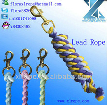 Cotton twist horse Lead ropes with trigger snap