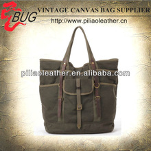 2013 New Style Wax Canvas Hand Bag/Double Handle Man's Tote Bag with Purse