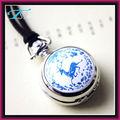 relógio de bolso vintage pingente colar relógio