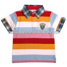 hot sale baby boys t-shirt stripe, high quality children t-shirt, chilren polo t-shirt