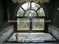 arco de madera de la ventana de perfil de aluminio de diseño de la fábrica de foshan