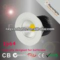 Aea/ce/rohs iluminación de cuarto de baño! Ip64 impermeable 10w cob downlight led regulable, ra> 80