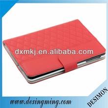 Best handmade red PU case for ipad mini sew in diamond