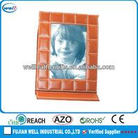 2013 funny pu leather photo frame