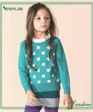 Lindos y de moda hechos a mano infantil jerseys de punto