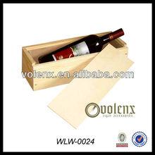 Hot sale Slide Lid Wooden Box for Wine Bottles