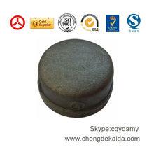 ISO,SGS black cast iron pipe end cap 300