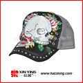 fashion design cranio e fiore piatto disegno di legge maglia cappuccio