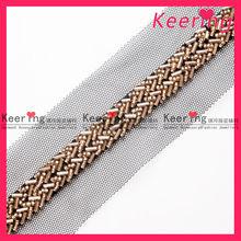 shiny metal clothing trim and applique WTP-1031