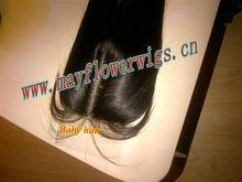 Virgin Indian hair silk base closure baby hair natural scalp top selling