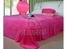 100% polyester plain microfibre bedspread
