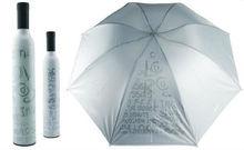 Cheapest promotion gift Gray Wine bottle anti-uv Umbrella