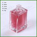 15 ml limpar francês quadrado frasco de Perfume de vidro