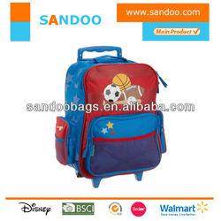 Customized cartoon cute kids trolley school bag for 2015