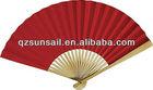plain paper fan /paper folding fan/bamboo hand fans