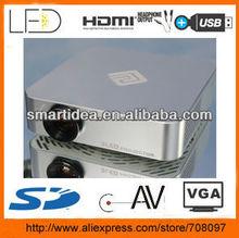 mini pocket lcd projector with HDMI AV VGA USB SD TV Tuner build-in 2G memo