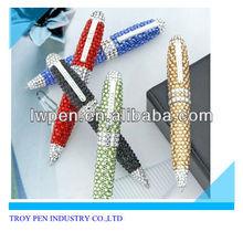 Promotional bling metal diamond pen,rhinestone pen