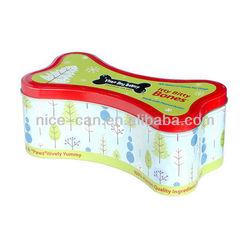 Pet Food Metal Tin Container, Dog food Tin box, special shape metal tin pet food container